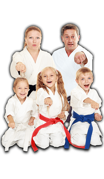 Martial Arts Lessons for Families in Broomfield CO - Sitting Group Family Banner