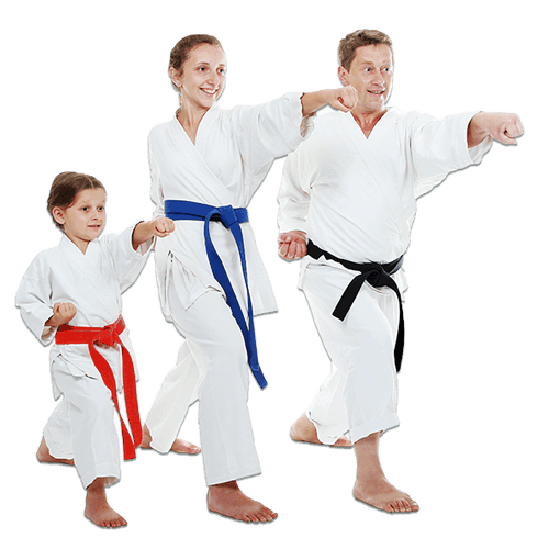 Martial Arts Lessons for Families in Broomfield CO - Man and Daughters Family Punching Together